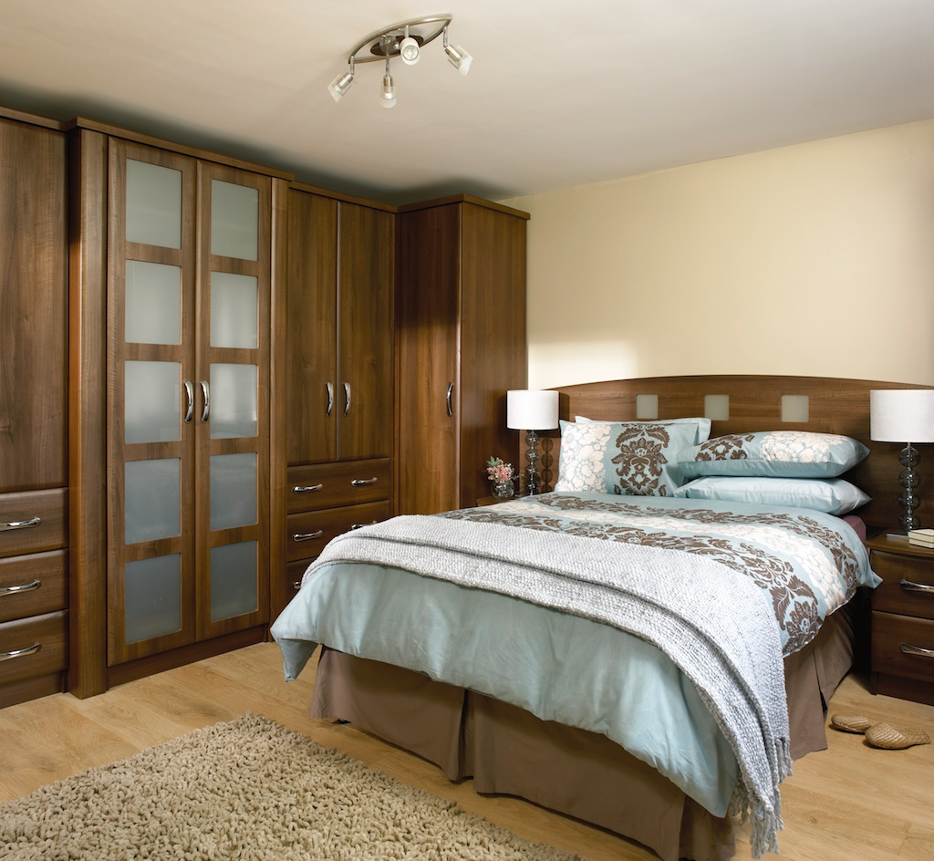 Bedroom in KDC39 Style shown in Dark Walnut